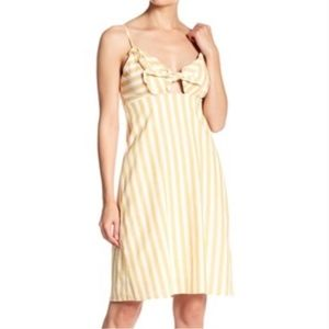CAD front tie dress in yellow